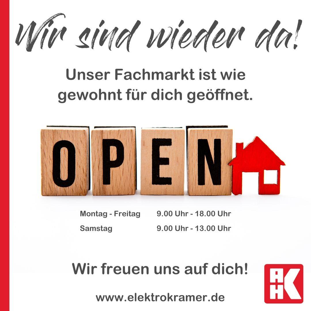 Elektro Kramer geöffnet