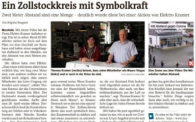Westfalenpost – Ein Zollstock mit Symbolkraft.