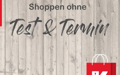Shoppen ohne Test & Termin