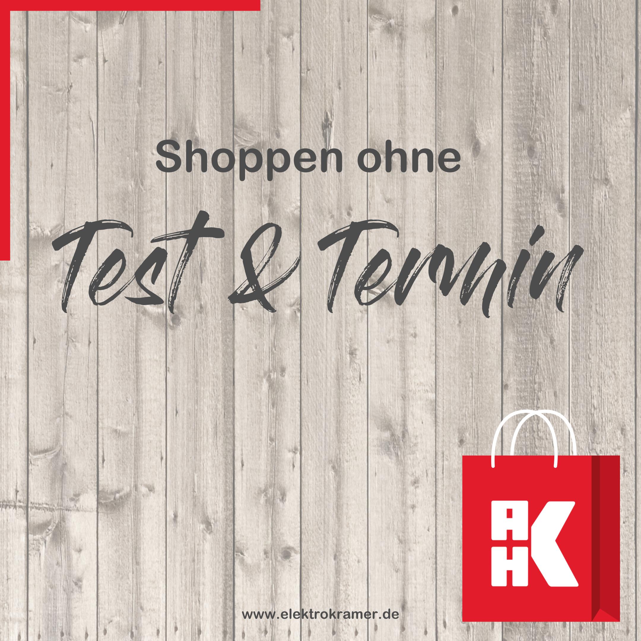 Shoppen ohne Test und Termin